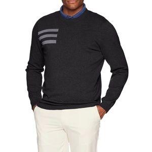 Men's Adidas gray golf pullover crew neck sweater